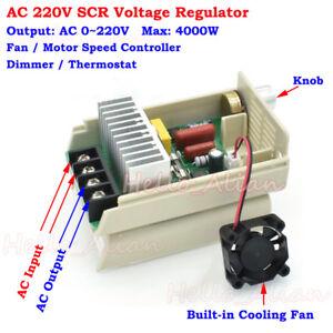 4000W AC 220V SCR Voltage Regulator Speed Controller Dimmer Thermostat Module s