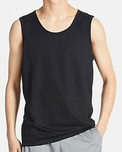 381a26d38f1e09 UNIQLO Dry-Ex Sleeveless T-Shirt   Tank Top Men s S Fitness BLACK ...