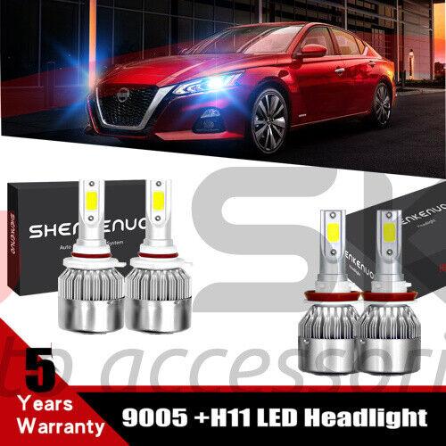 H11 9005 for 2019 2020 Nissan Altima 8000K LED Headlight Bulbs High Low Beam