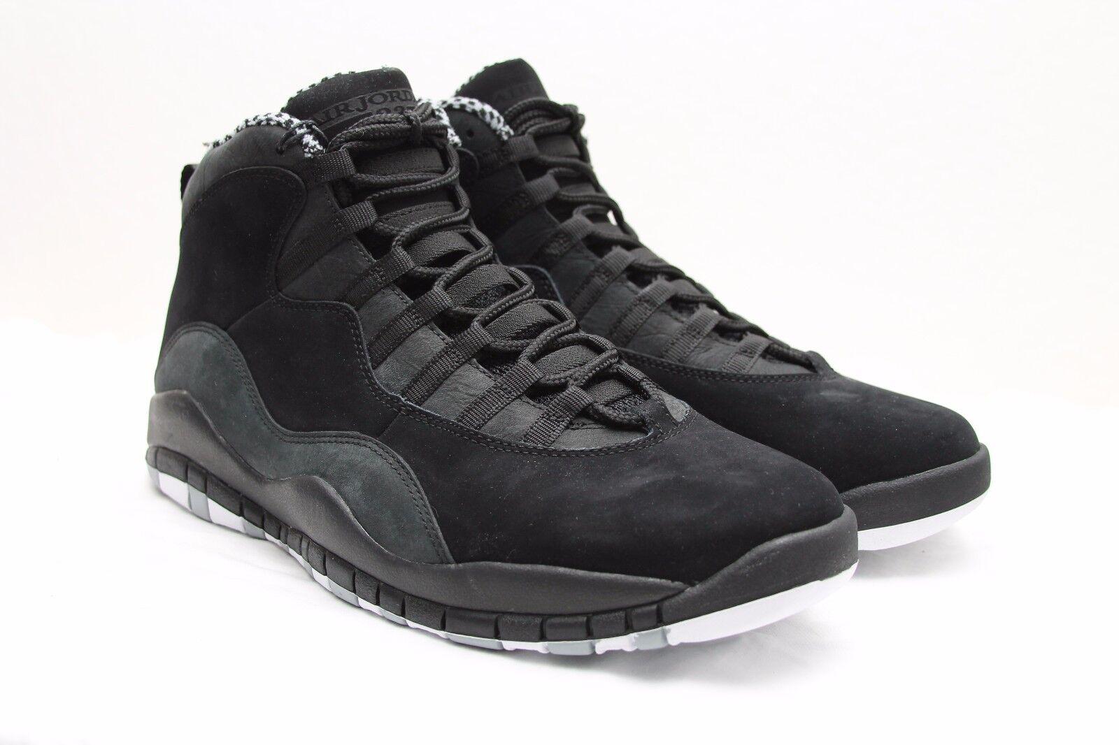 DS 2012 Air Jordan 10 Retro X size 11 Black iv White Stealth xi iii iv Black v vi vii 0310c0