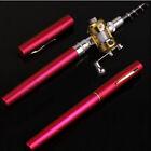Mini Portable Pocket Fish Pen Tool Fishing Rod Pole Reel Trolling Combos 6 Color