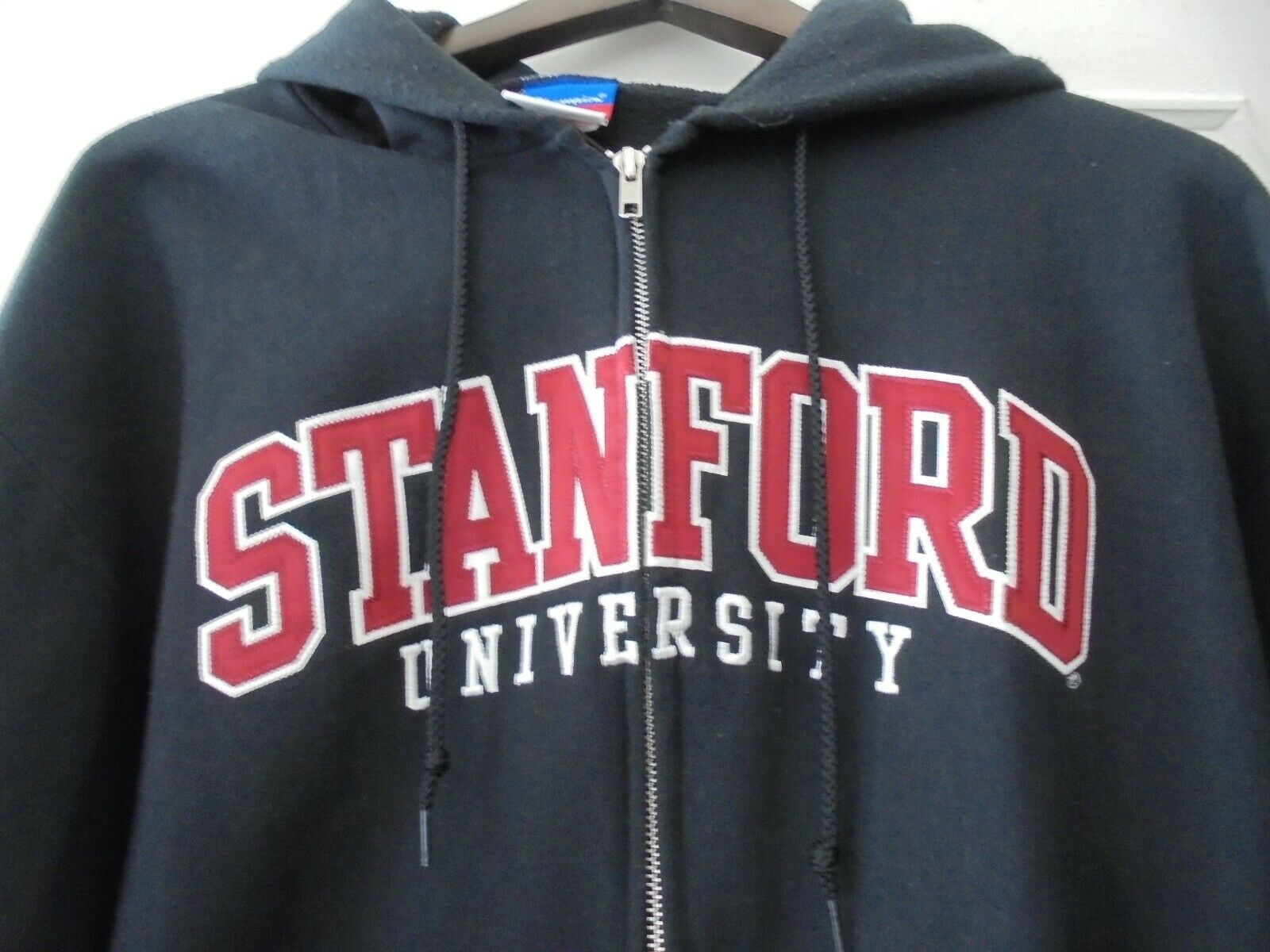 CHAMPION Stanford University Sweat Capuche Zippé Brodé