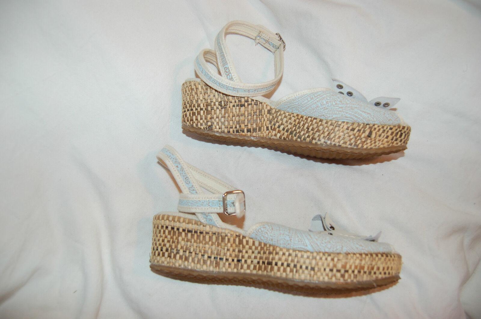 Mirella Canvas/Leder Ankle Wrap Wedge Platform  Sandales  Made in  Platform Größe 38 b6bb2a
