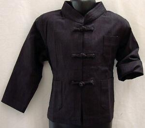 NEW-Children-Kids-Linen-Kung-Fu-Jacket-Hand-Made-Buttons-Long-Sleeves