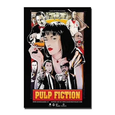 Pulp Fiction Classic Movie Art Silk Poster 12x18 24x36