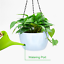 thumbnail 6 - GROWNEER 2 Packs 9.4 Inches Plastic Hanging Planter Self Watering Basket with 6