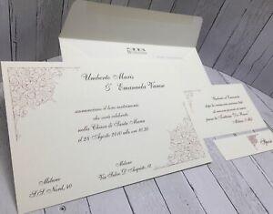 Matrimonio Inviti Partecipazioni.Partecipazioni Matrimonio Inviti Nozze Buonanno N010 Sposi Ebay