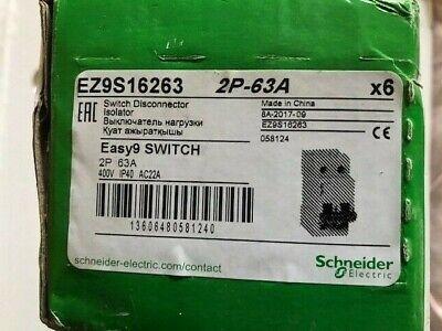 SCHNEIDER EZ9S16263 EASY9 63A DP SWITCH DISCONNECTOR ISOLATOR NEW