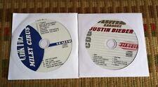 2 CDG DISCS TEEN KARAOKE HITS JUSTIN BIEBER/MILEY CYRUS 2011/2012 CD+G SONGS