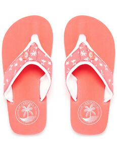 e31cf6bd4074 Animal Swish Upper AOP Girls Flip Flops in Sunkissed Orange