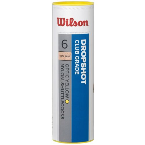 Wilson Dropshot Nylon Skirt Badminton Natural Cork Shuttlecocks Tube of 6