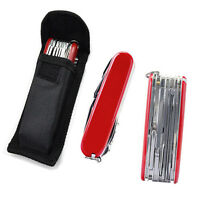 Red Pocket Swiss Army Knife Military Folding Survival 30-multi Tool + Canvas Bag