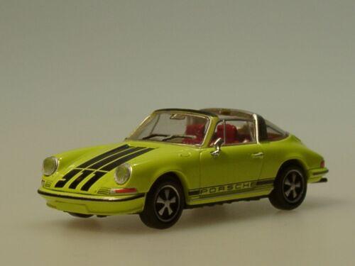 """16265-1:87 Brekina Porsche 911 Targa gelb mit /""""911/""""-Schriftzug"""