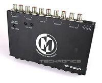 MEMPHIS 16-EQG7 +2YR WRNTY 7 BAND HALF DIN EQ EQUALIZER PRE AMP SIGNAL PROCESSOR
