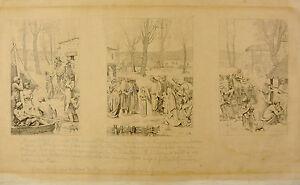 Agressif François Eugène Burney (1845-1907) Fresques Puvis De Chavannes Sainte Geneviève Produire Un Effet Vers Une Vision Claire