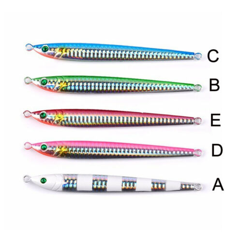 Minnow Colorful  Jig Metal Slice Fishing Lures Spinning Baits Lead Casting