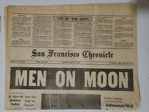 San-Francisco-Chronicle-Man-Walks-On-the-Moon-July-21-1969-Complete-Newspaper