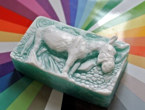 DONKEY SILICONE MOULD SOAP RESIN PLASTER CLAY WAX MOLD  5,5OZ  MULE