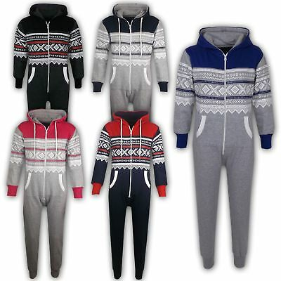 Childrens Aztec Onezee Girls Boys One Piece Hooded Jumpsuit Ages 5-13 Years