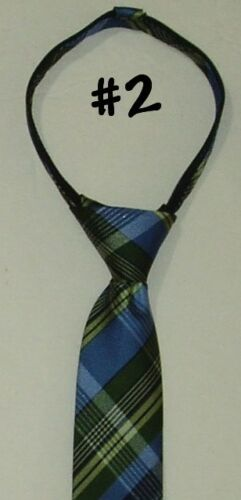 Necktie Zip Up Tie Boys Youth Dance Church Wedding Dress Holiday Christmas ties