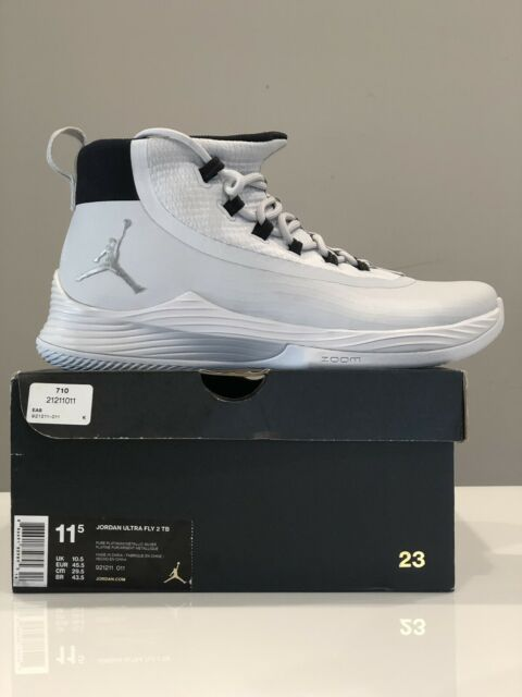 sale retailer b0bdd 13983 Nike Jordan Ultra Fly 2 TB Pure Platinum Basketball Shoe 921211-011 Mens  Size 11