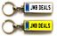 miniature 10 - Personalised Metal Double Sided Registration Number Plate Keyring Any Name /Text