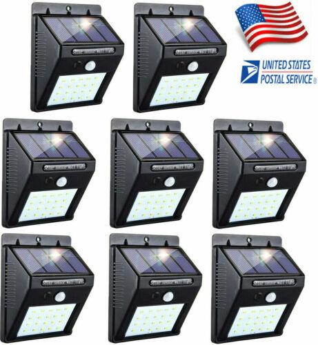 Outdoor 20 LED Solar Wall Lights Power PIR Motion Sensor Garden Yard Path Lamp