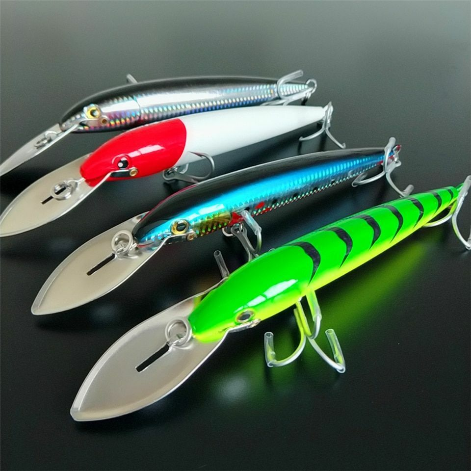 Big Tongue Lure 3d Eyes Artificial Big Hard Lure Fishing Bait Bass Lures Minnow
