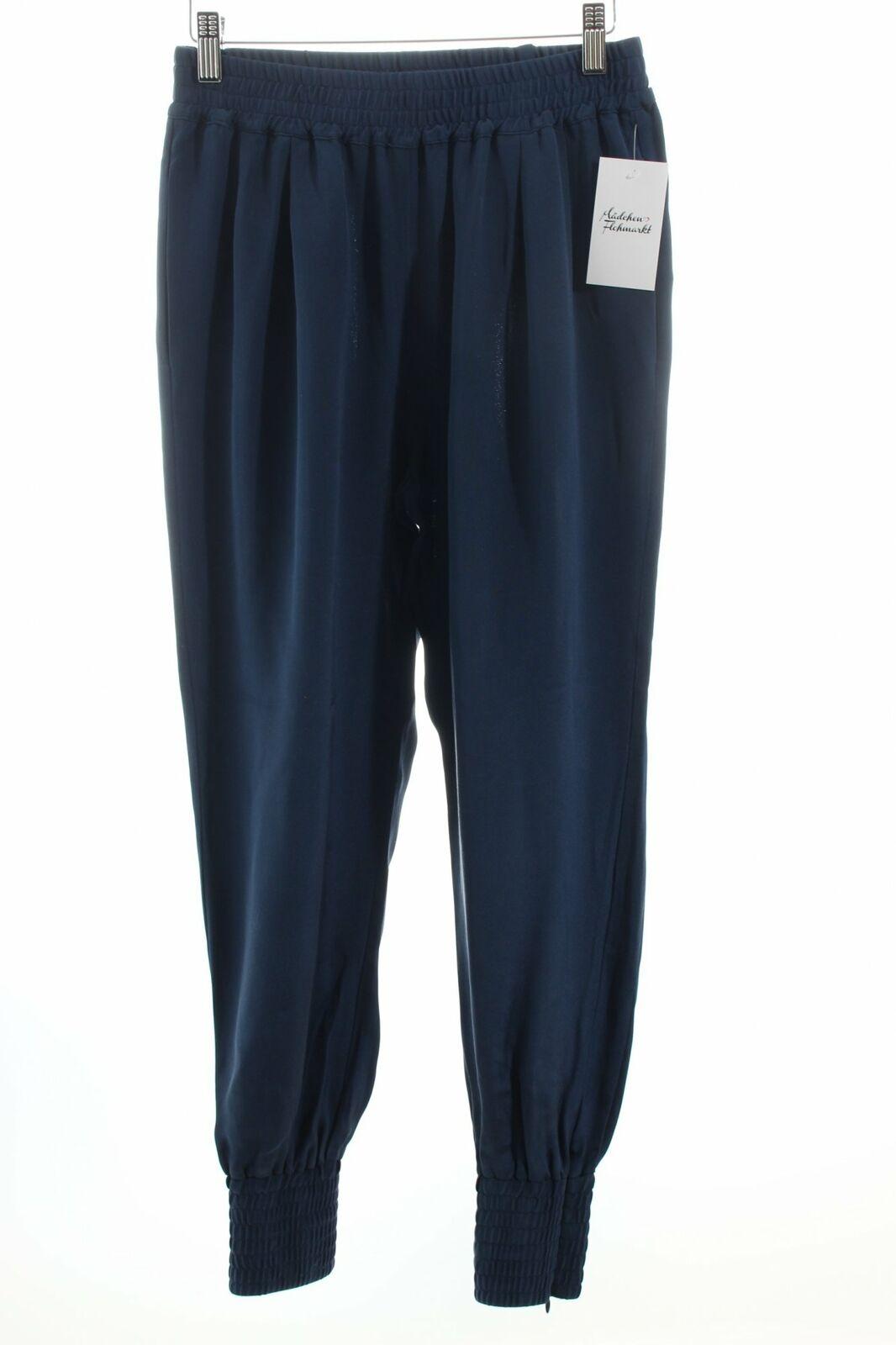 IHEART Pumphose dunkelblau Casual-Look Damen Gr. DE 36 Hose Trousers Seide
