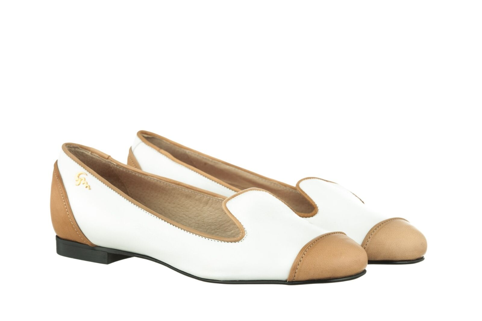 MORI BALLERINA MADE IN ITALY SLIP ON FLATS SCHUHE Schuhe BALLERINA MORI LEATHER Weiß BIANCO 37 68ea36