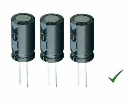 3pz Condensatore Elettrolitico 220uF 100V Verticale 105° 13x25mm