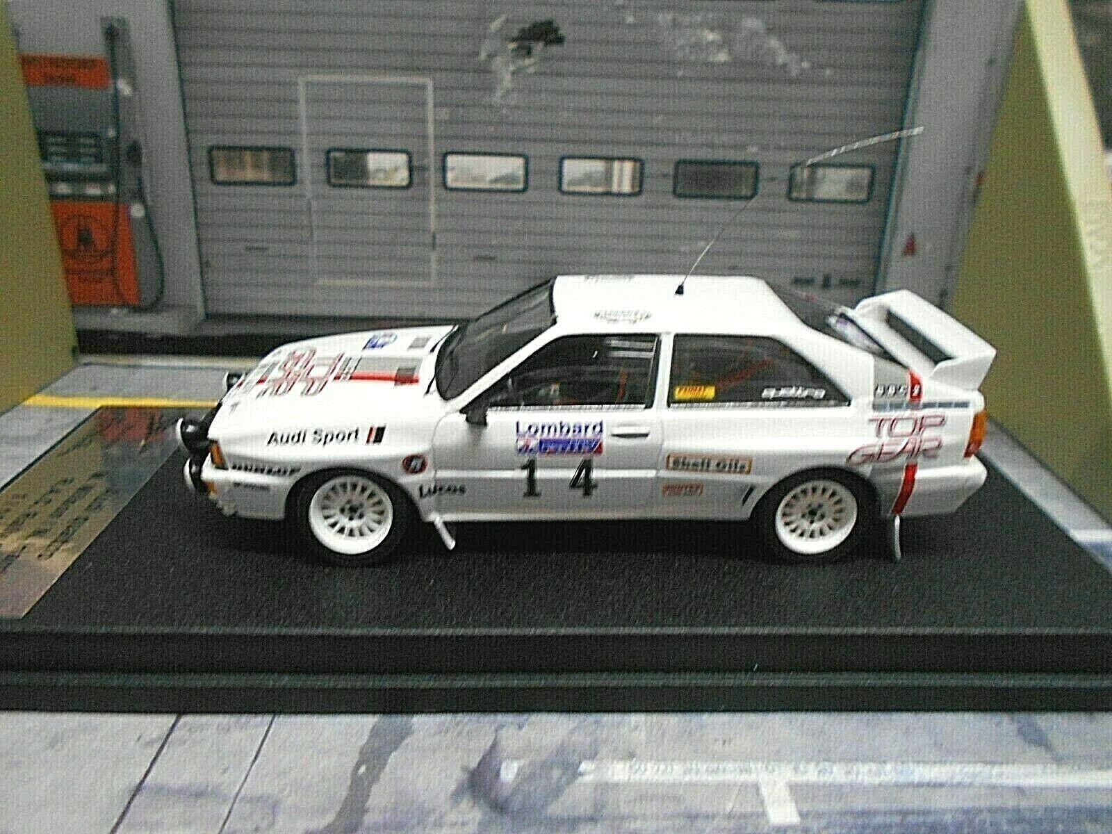 AUDI Quattro Rallye Gr.B Rallye RAC GB  14 Wilson 1984 TOP GEAR Trofeu Sca 1 43
