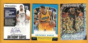 Details About Anthony Davis Autograph Auto Card Panini Rookie Card Optic All Star Prizm La