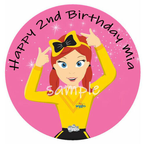 EMMA YELLOW WIGGLE THE WIGGLES PREMIUM EDIBLE ICING CAKE DECORATION IMAGE TOPPER