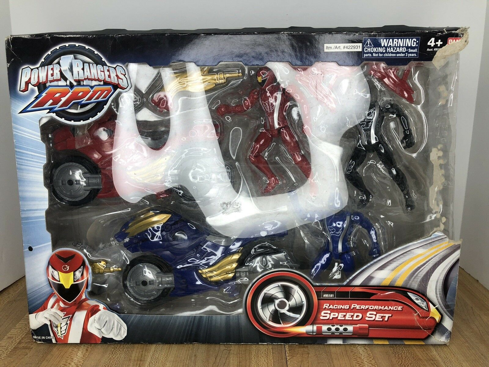 Power Rangers RPM Racing Performance Speed Speed Speed Set Eagle & Lion Cycle w Wolf Ranger a439d9