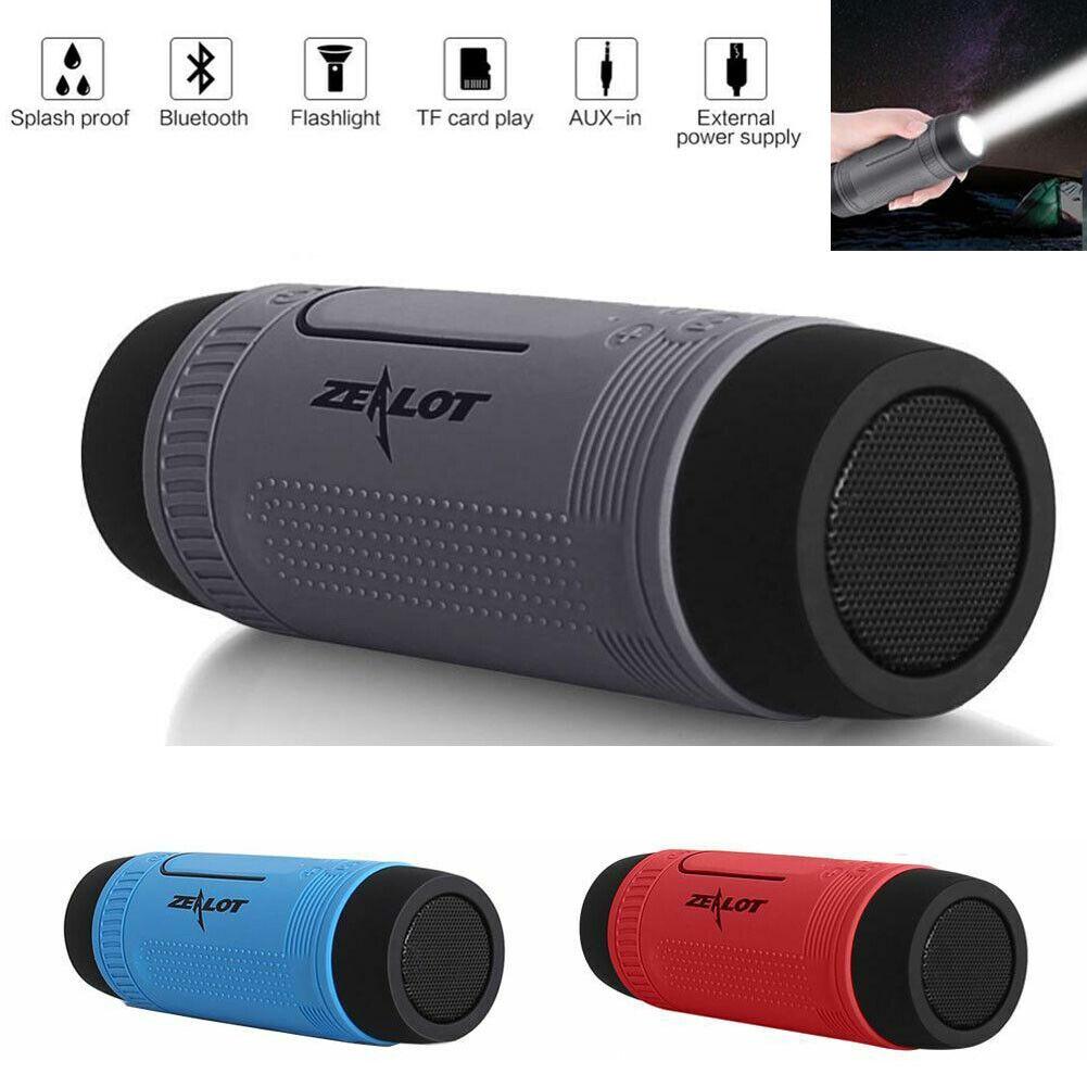 Bluetooth Speaker Outdoor Music Speaker Flashlight with Mic