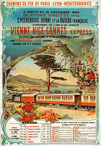 TX122-Vintage-Vienne-Nice-Cannes-Express-French-Railway-Travel-Poster-A4