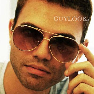 Retro Classic Must-have Mens Oversized Aviator Boeing Sunglasses By Guylook