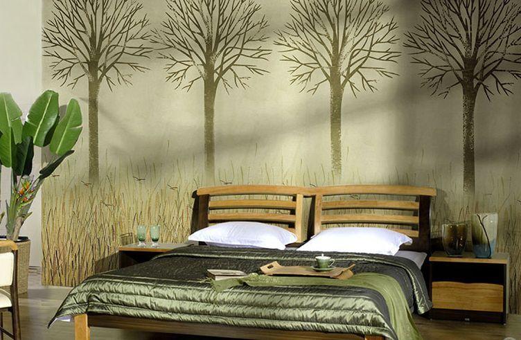 3D Wall Trees Simple Ha Paper Wall Print Wall Decal Wall Deco Indoor Wall Murals