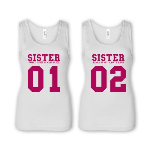 Sister 01//02 Family-Villana Tank tops-Best Friends amigas Best perras emo