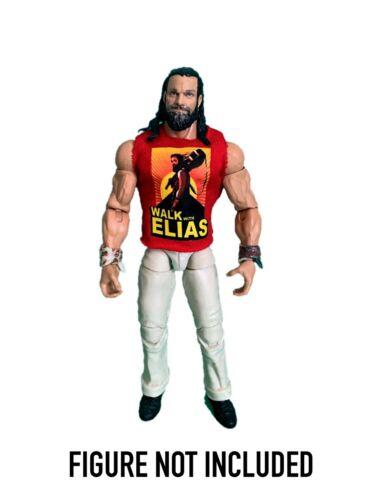 """WWE Elias /""""marcher avec Elias 2020/' Custom Shirt pour Mattel figures."""