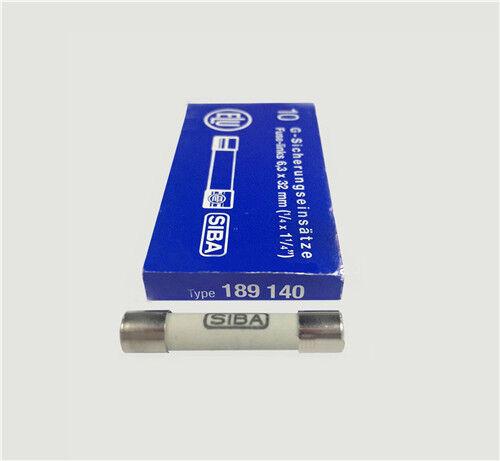 1PCS SIBA Ceramic Tube Time-Lag Cylindrical Fuse 10A T10A H500V NEW
