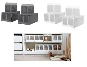 D'origine Ikea Chaussure Boîte Blanc Organisation Armoire Gris Le De Afficher Boîtes Détails Conservation Sur Titre Skubb Pax Neuf KcFTl31J