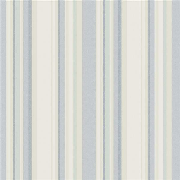 G34107 - Vintage Damasks Striped bluee & Green Galerie Wallpaper