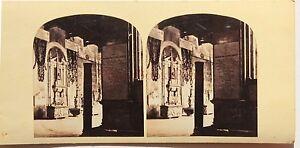 Pisa Galerie Dei Canali Italia Stereo Vintage Albumina Ca 1860