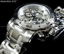 Invicta 0071 Pro Diver Chronograph Stainless Steel Men Watch - Silver