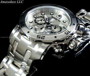 NEW-Invicta-Mens-Pro-Diver-Scuba-VD53-Chronograph-Stainless-Steel-Watch