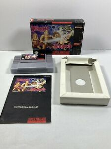 Magic-Sword-Super-Nintendo-SNES-1992-Complete-CIB-amp-Manual-Authentic-Tested