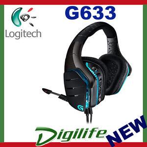 Logitech G633 Artemis Spectrum RGB 7.1 Surround Gaming Headset Microphone 97855115058