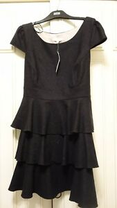 16 Dress Flannel Grey Redherring Tiered Size qX0wx7O8